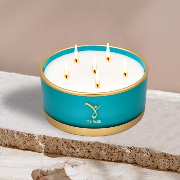 Lux Candle Turquoise 570 gr